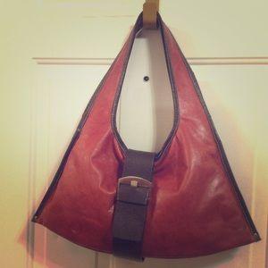 Sophia Visconti Bags - SOPHIA VISCONTI Red Italian Leather Hobo Bag